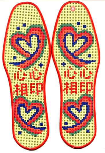 十字绣印花鞋垫 精准印花鞋垫