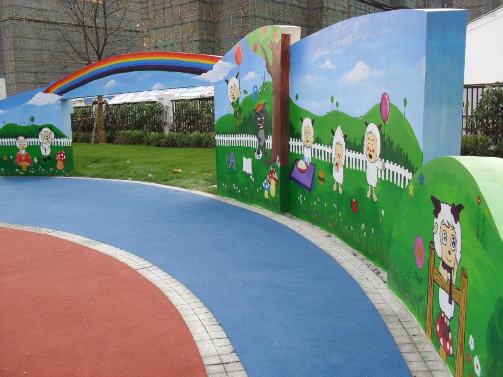 【上海幼儿园墙绘】 【苏州幼儿园彩绘】 【上海幼儿园外墙彩绘】手绘