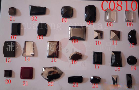 水晶玻璃钮扣,手缝石等服装饰品及鞋材扣饰配件