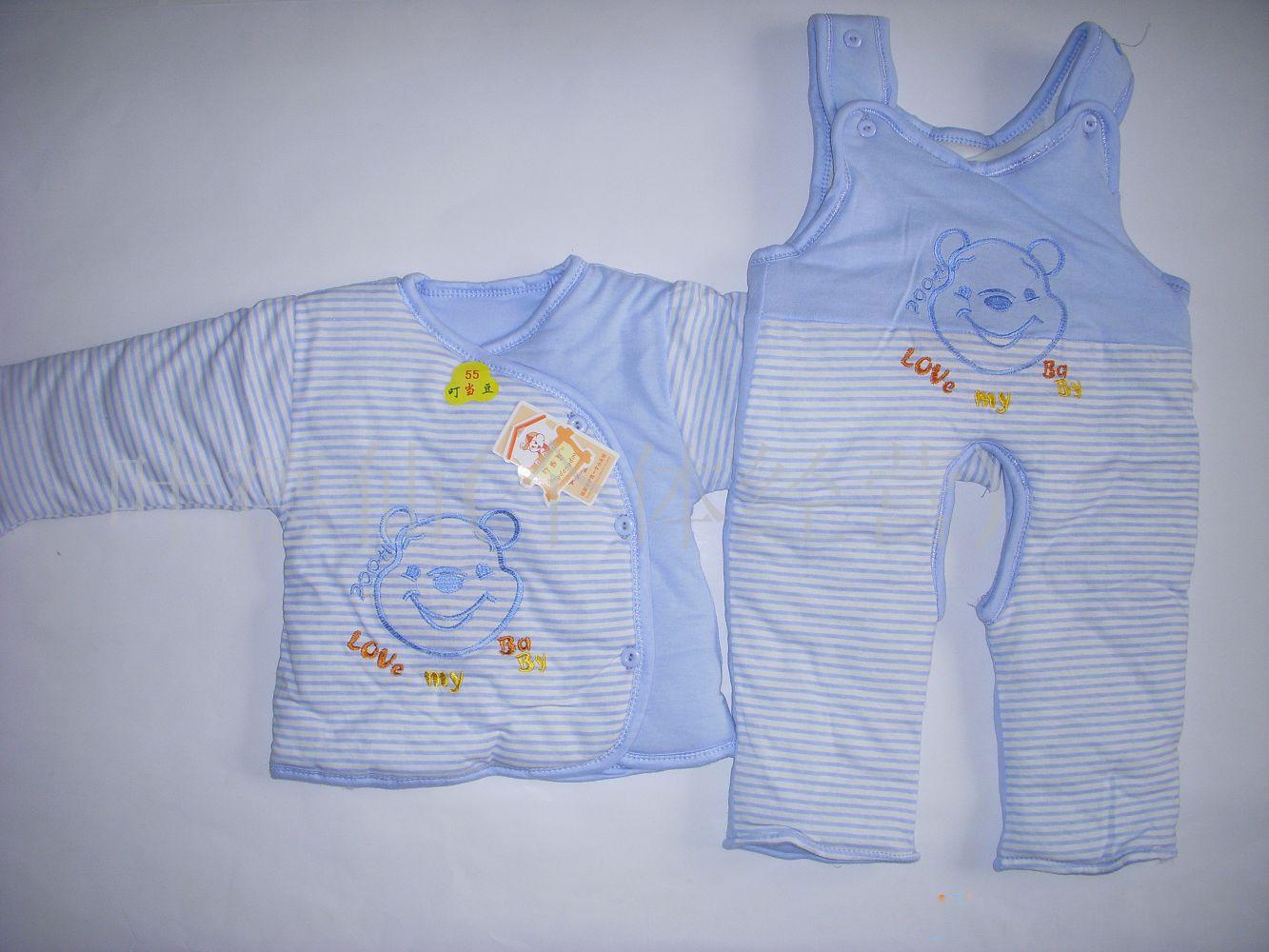 外贸儿童童装时尚叮当豆斜扣婴儿套装(图)