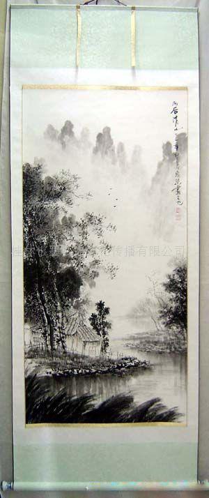 书画山水--四尺李泉幽水墨桂林山水