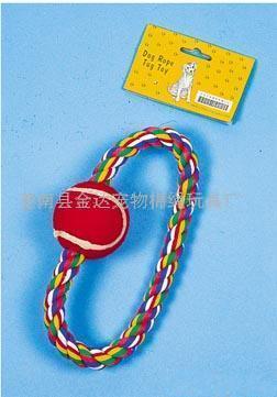 彩色棉绳,宠物玩具(图)
