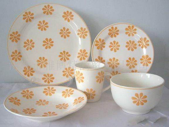 批发出口日用陶瓷手绘餐具