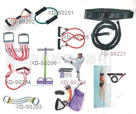 橡皮管拉力器,健身器材(图)