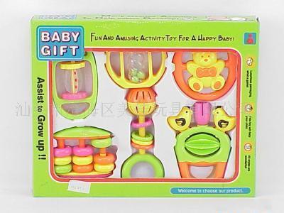 窗盒6PCS摇铃婴儿玩具
