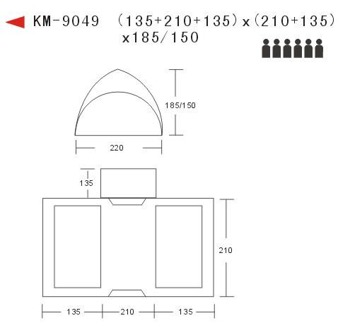 帐篷矢量平面图