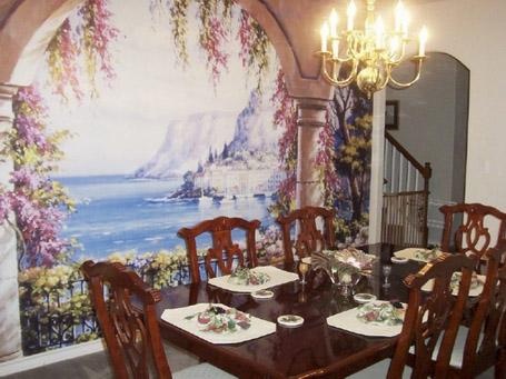 餐厅壁画图片