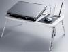 笔记本电脑桌 床上电脑桌 折叠电脑桌 2风扇+键盘膜+USB灯