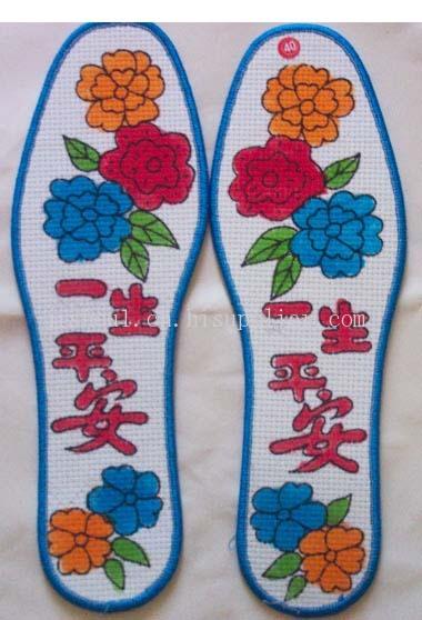 十字绣花半成品鞋垫图案款式多样