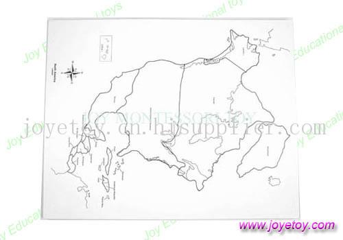 北美地图控制图有标记