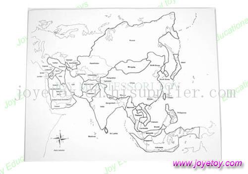 北美洲地形图手绘图片