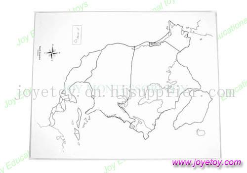 亚洲地图控制图有标记
