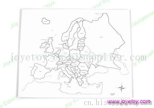 欧洲地图控制图有标记