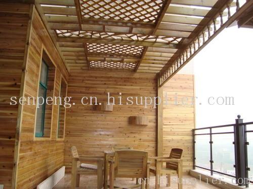 重庆防腐木材花架