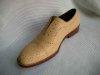 手工固特异沿条皮鞋
