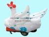 充气电瓶车 气模游乐车 充气游乐车 喜羊羊玩具电瓶车 彩灯充气电瓶车