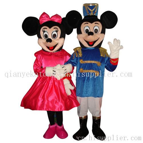 军装米老鼠通人偶卡通服装表演服动漫服装动物服装卡通推广服卡通表演