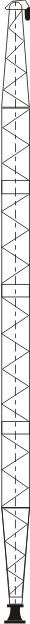 铝合金格构式单抱杆250~400mm边长