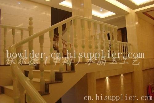 跃层楼梯,别墅楼梯,玉石楼梯扶手