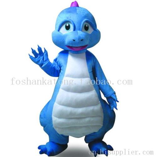 蓝恐龙卡通人偶卡通服装动物扮演服恐龙服装龙年吉祥