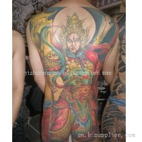 二郎神降龙图片 二郎神纹身 二郎神降龙纹身手稿 二郎神额头天眼纹身