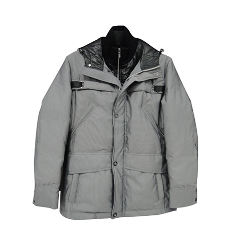 灰色 休闲 羽绒服-海商网