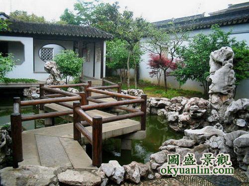 中式庭院景观设计,仿古建筑,复古建筑,园林古建-海商