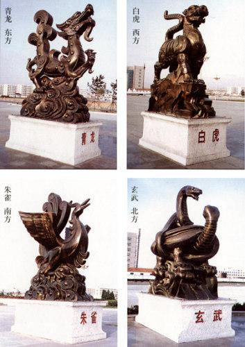 石雕玄武,青龙,白虎,朱雀,石雕瑞兽