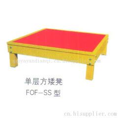 单层方矮凳FOF-SS型