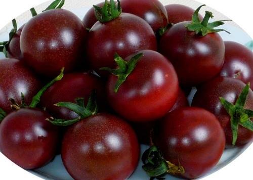 ■黑番茄-黑色番茄紫色花菜 餐桌上的高端菜你吃过吗