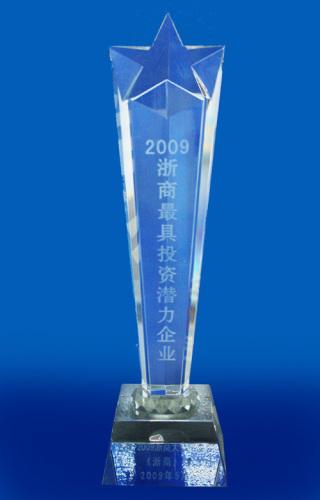 """浙商风云榜""""2009浙商*具投资潜力企业"""""""