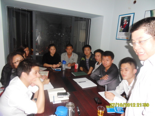 ★宁波总部周经理来访深圳海商。(2012年10月27日)