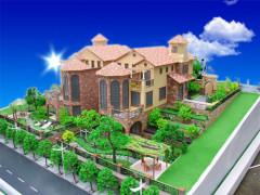 欧式别墅外观模型