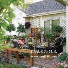 东南亚别墅庭院木地板别墅庭院沙发图片15