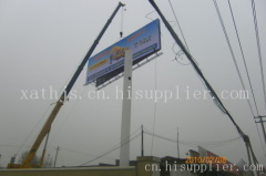 西安广告牌单立柱双面制作
