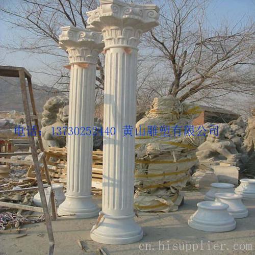 中式石柱子图片