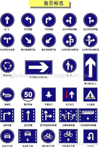 交通指示牌简笔画_手绘