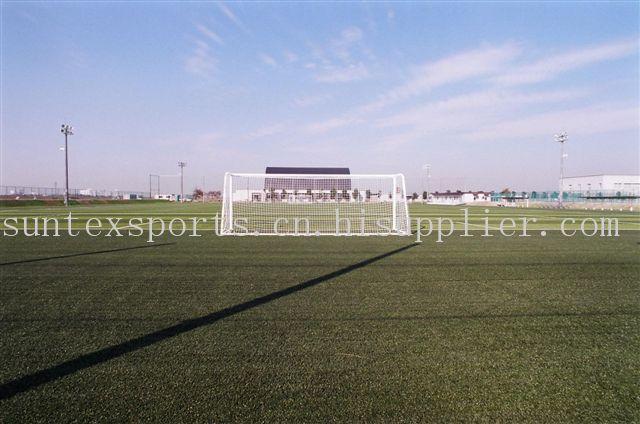 进口PE12500DTEX带筋双色混色50MM足球用人造草皮
