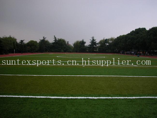 45mm PE 足球场用3色间织人造草皮
