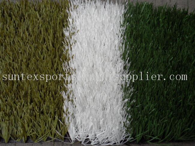 50MM  PE带筋分色足球场人用造草皮