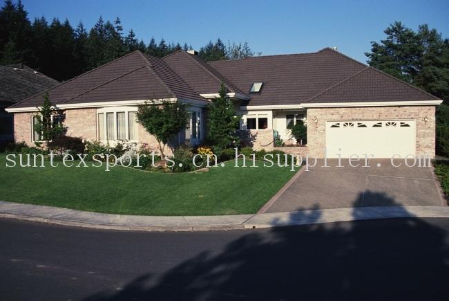 35MM 高密度PE+PP U型景观用人造草坪