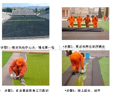 55MM PE 网丝+PP 单丝混合间织足球场用人造草坪