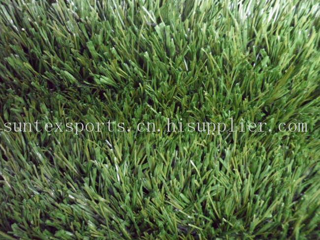 50MM  PE 网丝+单丝间织足球场用人造草坪
