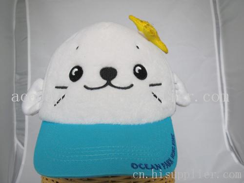 韩版潮人四季百搭宝宝可爱卡通猫咪帽子 棒球帽儿童帽
