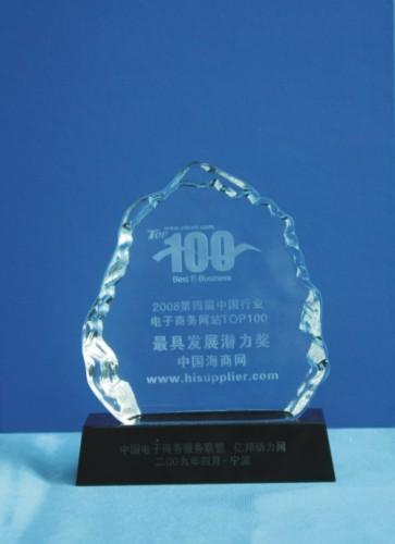 第四届中国电子商务大会上评为行业电子商务网站最具发展潜力奖