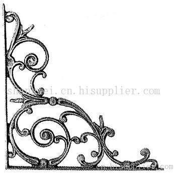 铁艺矩形装饰矢量图