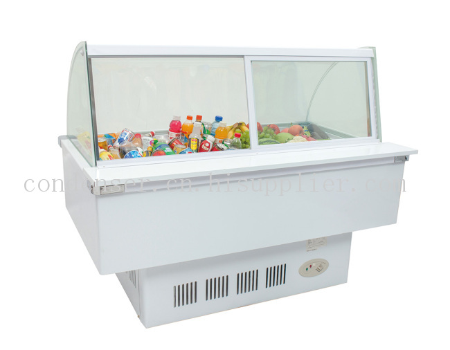 曲面商用冷藏食品成列柜