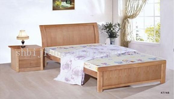 简约实木床 欧式实木床 双人实木床 双人木床 床