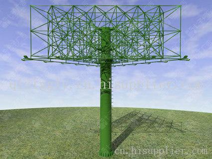 11 产品摘要: 南京七子广告单立柱广告牌制作一般为桁架式钢架结构