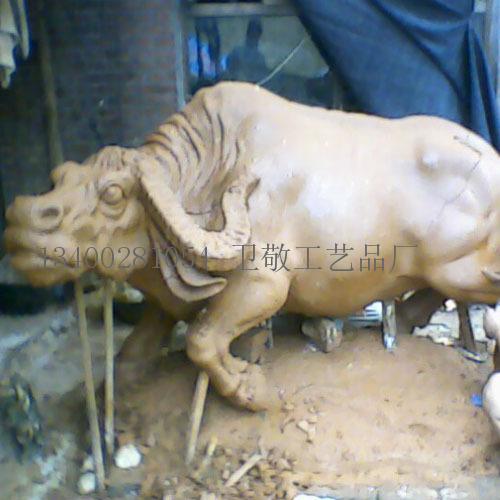 泥塑动物牛|孟卫敬